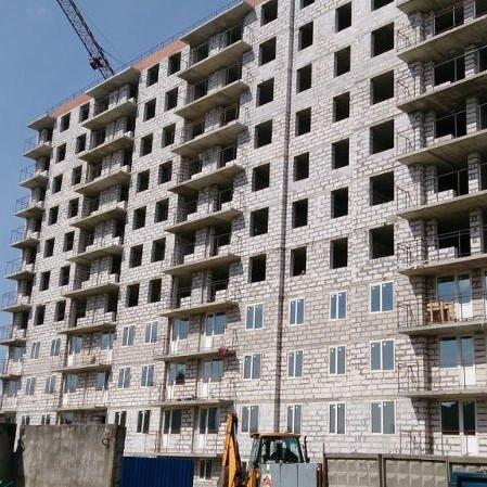 Строительство корпусов ЖК Родные берега май 2016